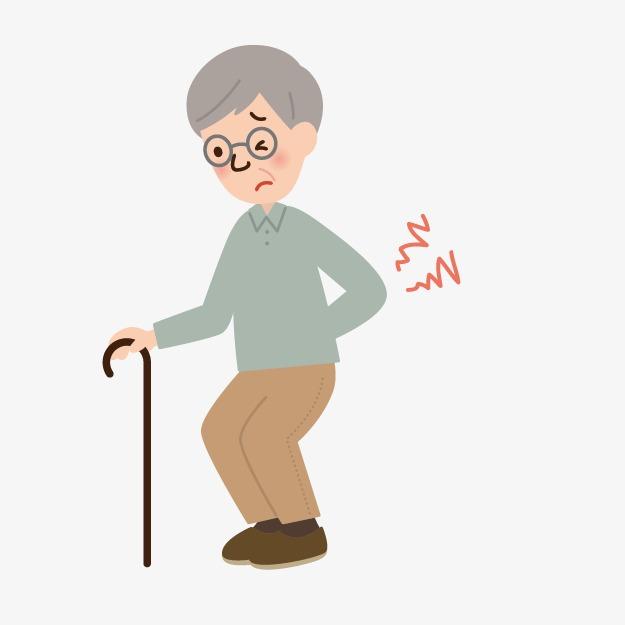 手绘卡通小人图片人物图案 拄拐杖的老人人物图标矢量人物手绘人物素图片