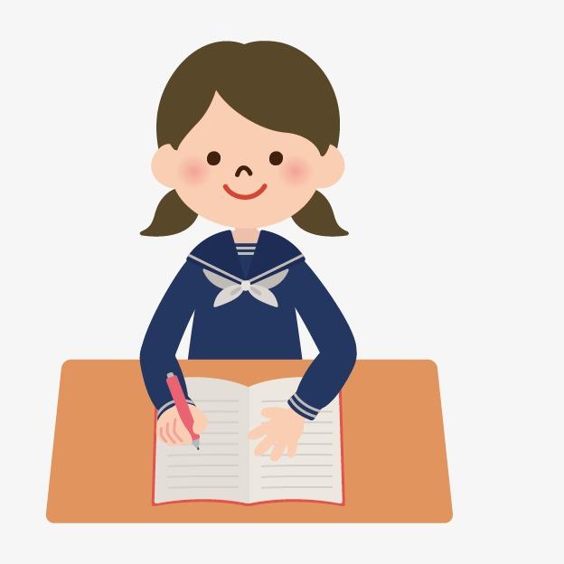 手绘人物素材 人物 卡通小人素描 人物图标卡通图片 卡通 学生 书桌免