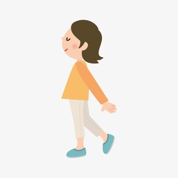 走路的小人图片
