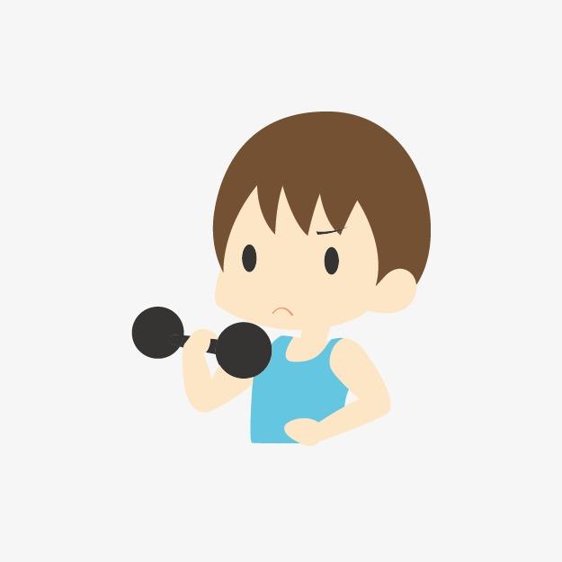 健身卡通手绘运动小人图片