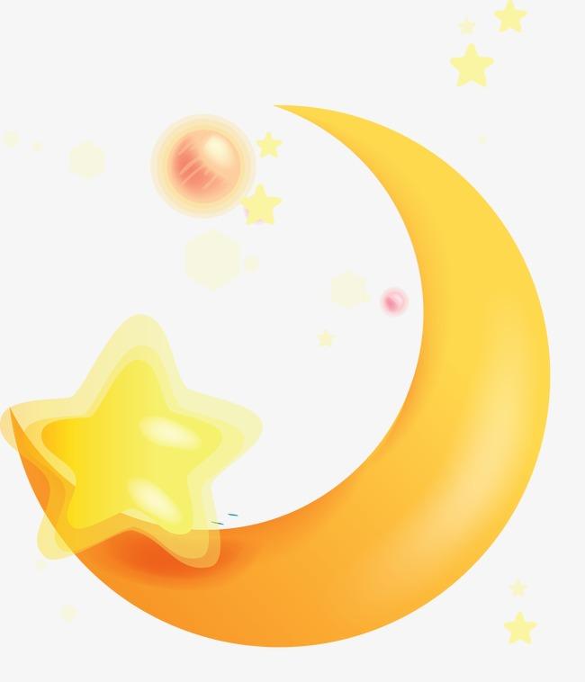 月牙图案月牙图片素材 卡通可爱月亮船图片