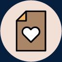 情人节图标手绘爱心图片
