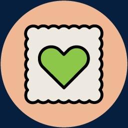 情人节蛋糕卡通图标矢量图