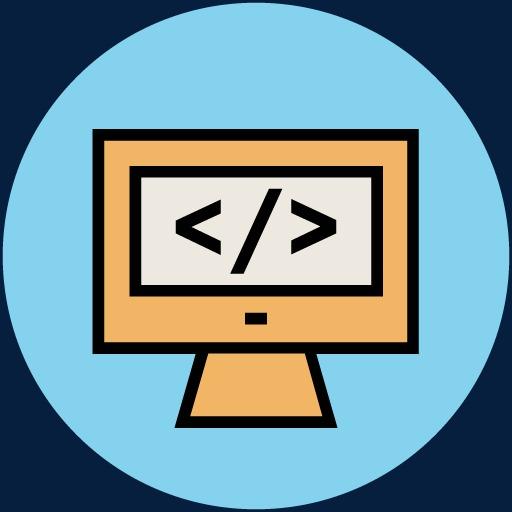 手绘科技图片科学素材 电脑显示屏