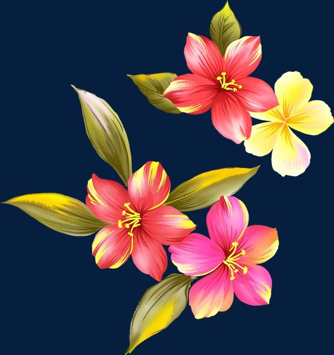 花卉ps素材水彩花卉