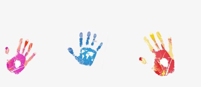 水彩手印图片