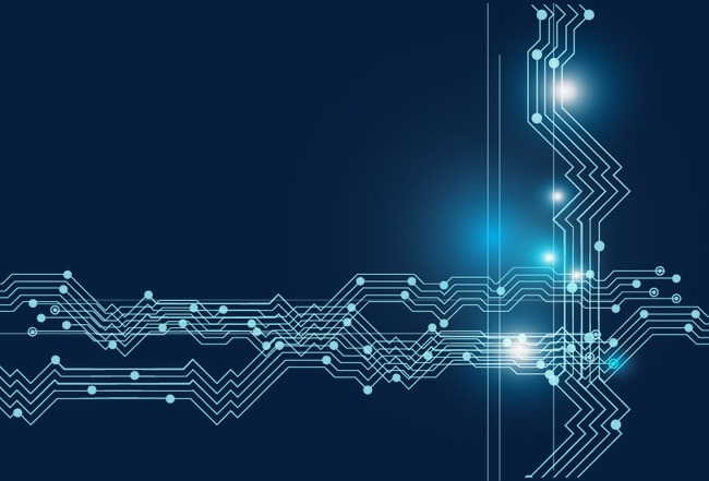 电子科技线条电路图