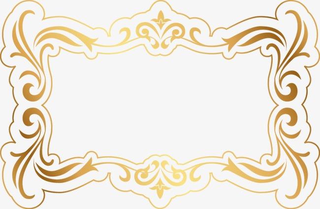 精美金色花纹边框(图片编号:15404208)