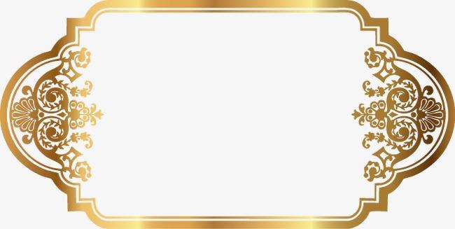 精美金色花纹边框