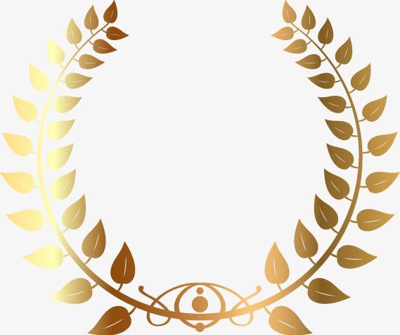 精美金色花纹圆形边框