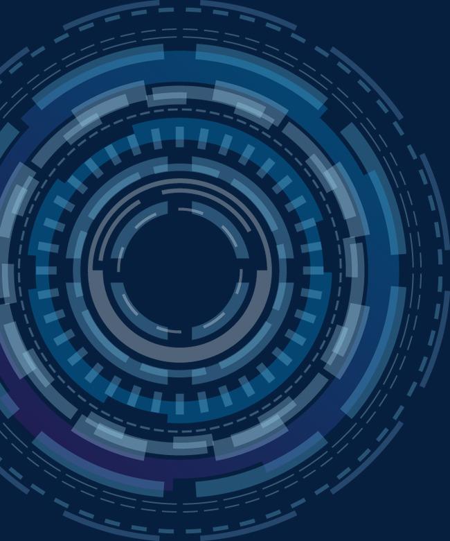 蓝色科技抽象几何圆环
