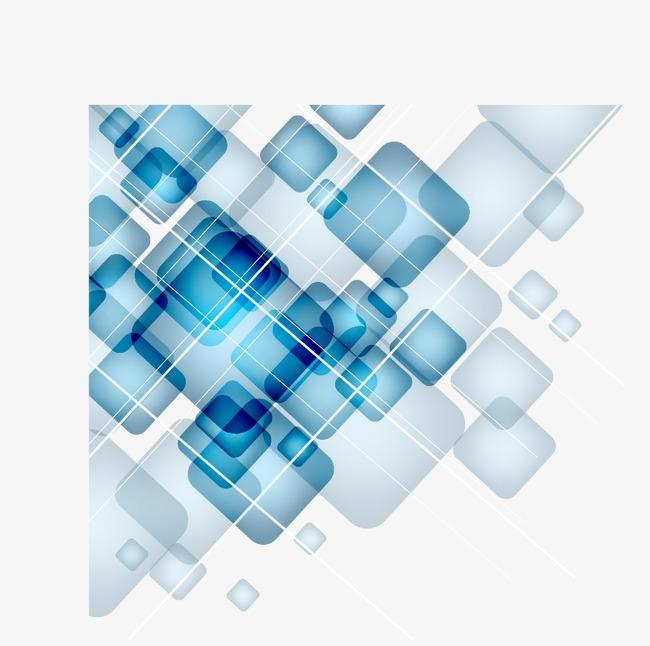 蓝色科技数码几何方块渐变