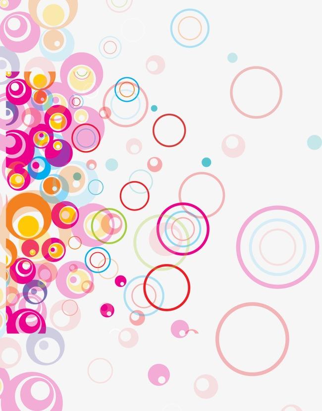 抽象炫彩几何缤纷圆环