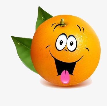 卡通手绘橘子