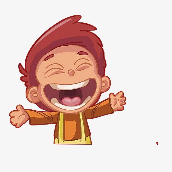 卡通开心小男生