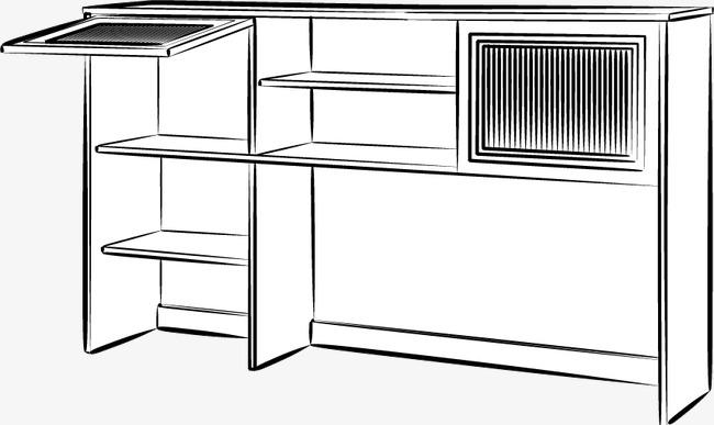 手绘风格家具透视图