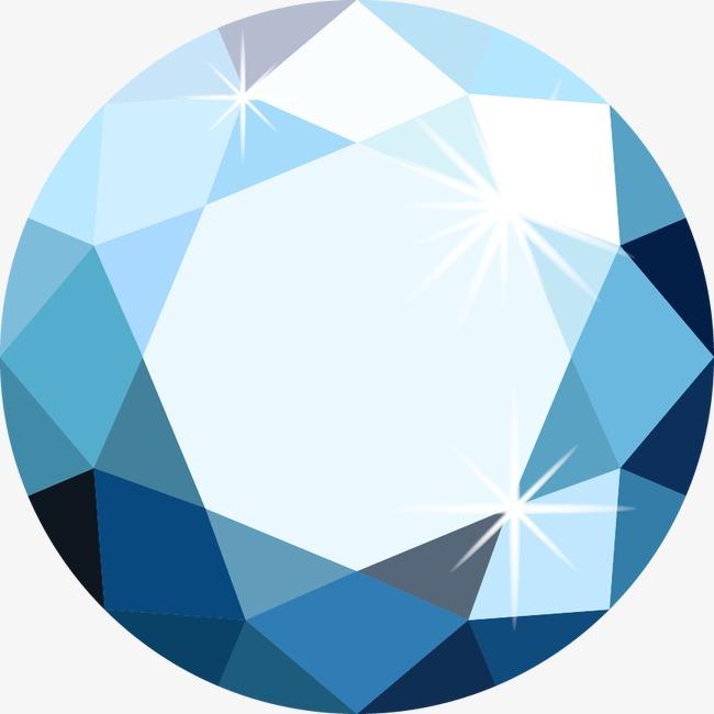 精美炫酷圆形钻石png素材-90设计