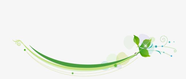创意树叶曲线图片