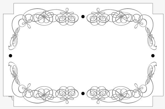 设计元素 背景素材 其他 > 欧式黑白相框
