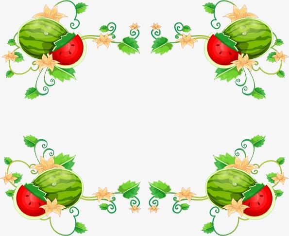 西瓜花纹矢量图