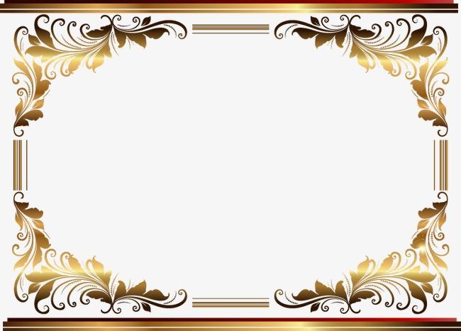 金色欧式精美花纹边框