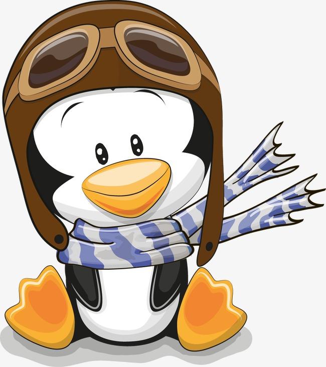 卡通可爱小企鹅
