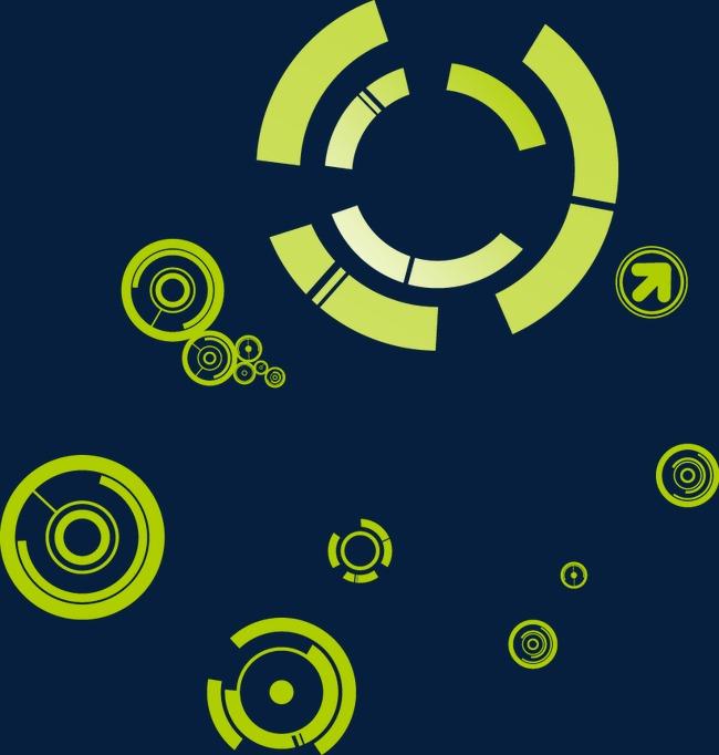 科技数码几何圆环