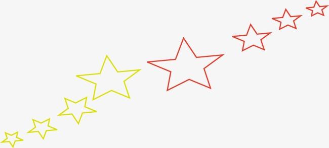 创意手绘线条星星