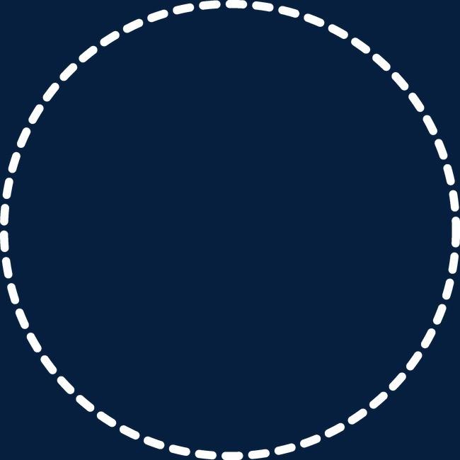 简约风虚线圆环圆形边框