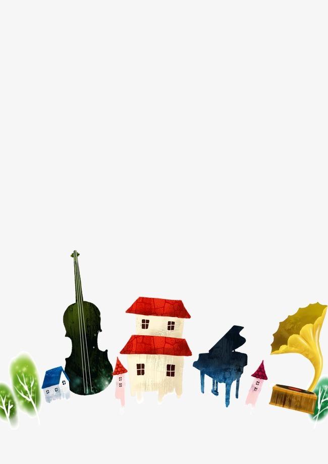 半圆形房子装饰图案