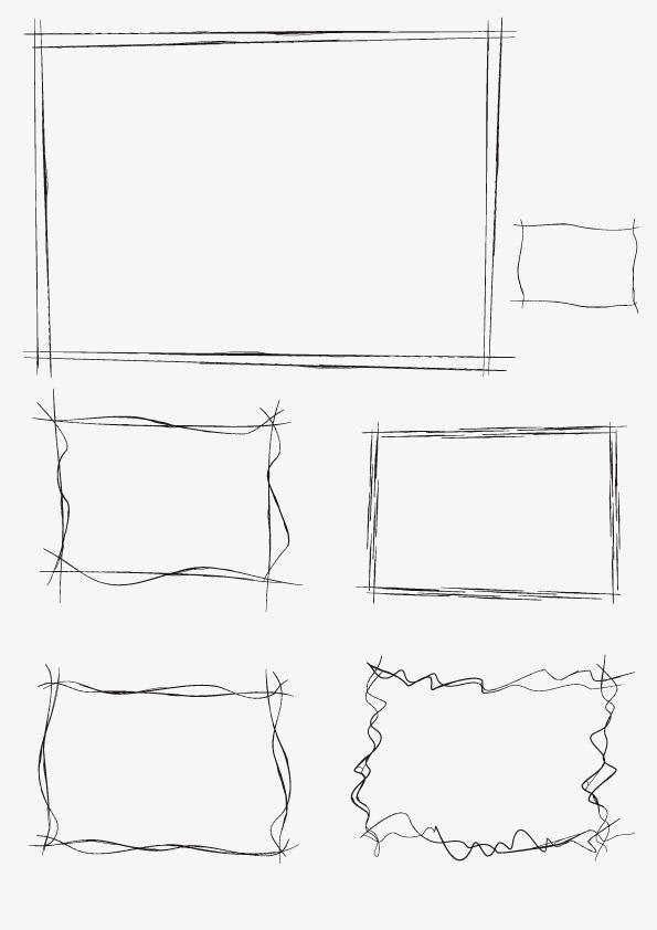 边框 线条 线描 矢量图