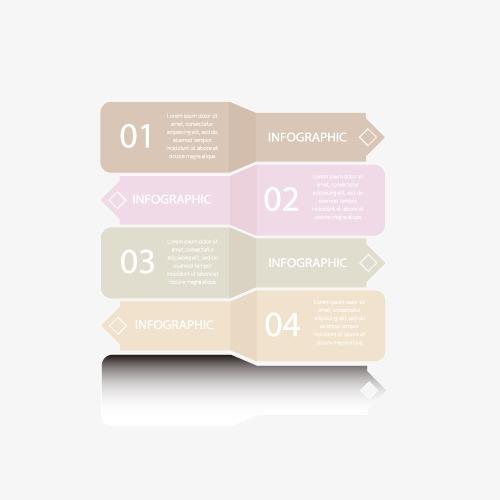 信息分类 淡色 数字 边框 矢量图 ppt
