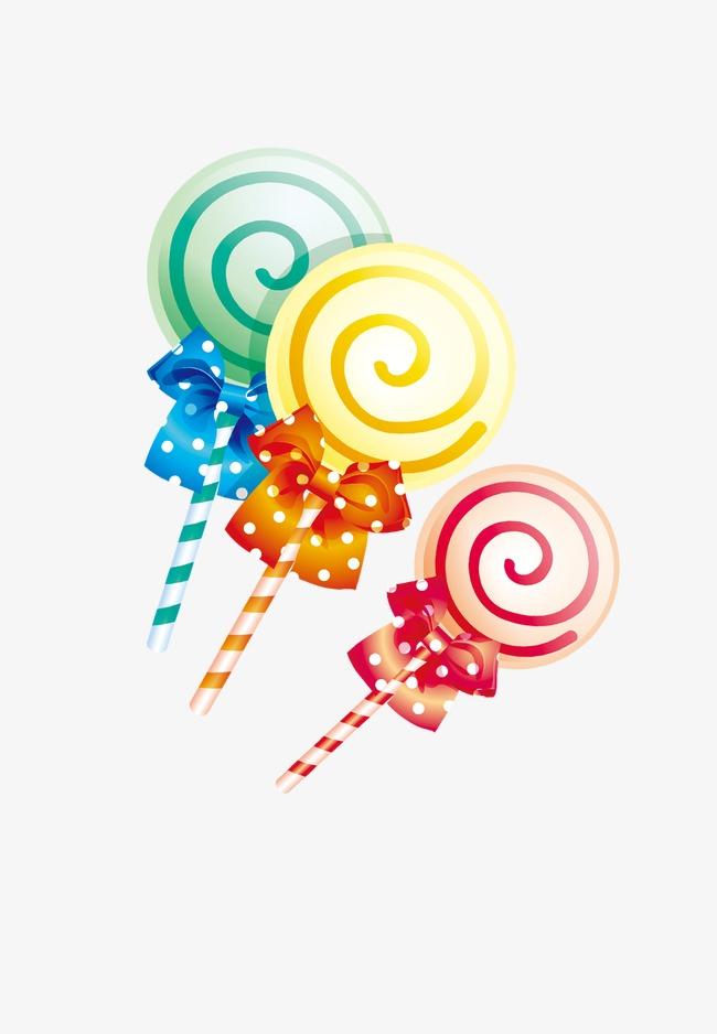 儿童节元素卡通棒棒糖糖果建筑