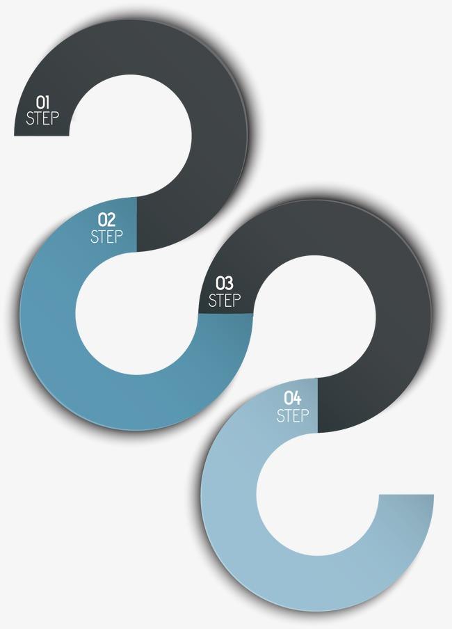 ppt文本框蓝黑色s形曲线s形矢量图s形龙s形标志s形花