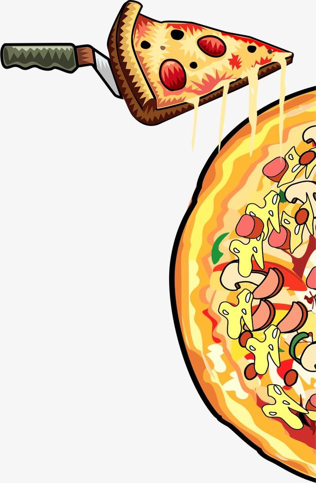 手绘披萨图片