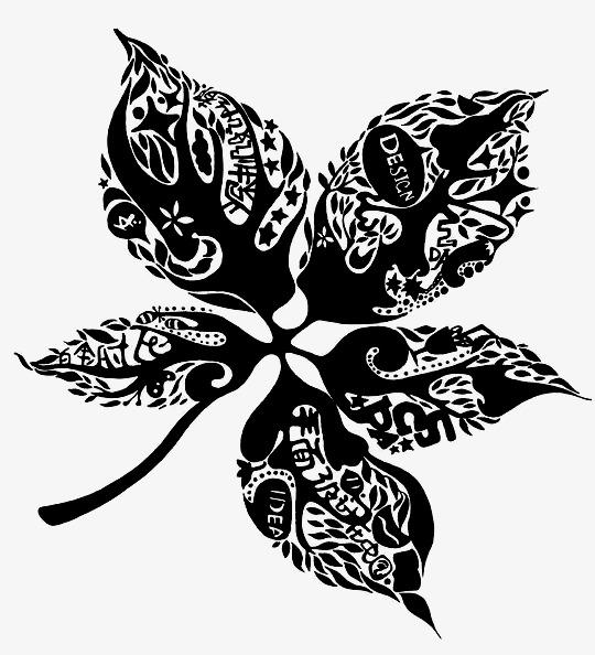 装饰画树叶图片