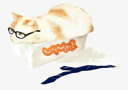 水彩手绘猫咪图案水彩手绘动物小清新-水彩手绘猫咪图案素材图片免