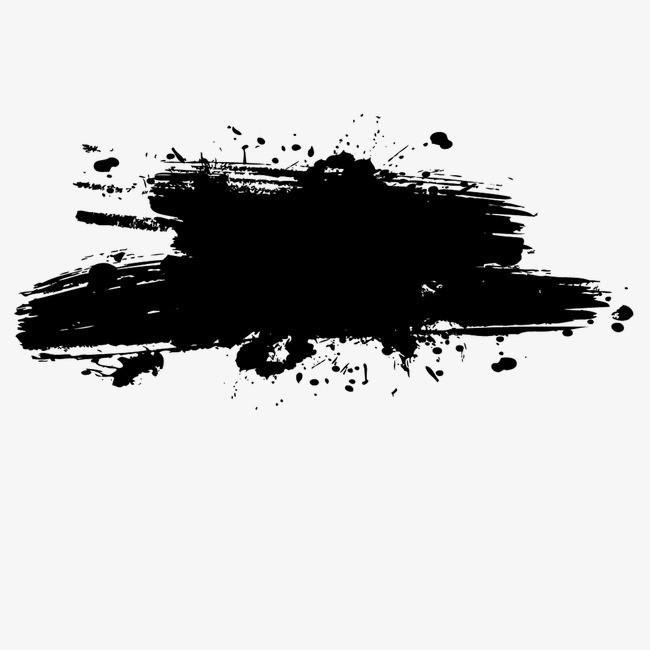 水墨画专辑笔画黑色中国风墨水笔刷图片