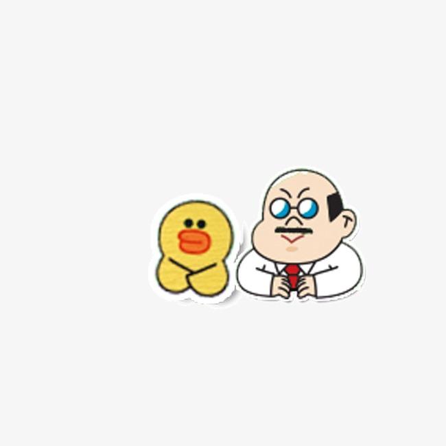 卡通 动物 背景装饰图案 手绘可爱表情 鸭子