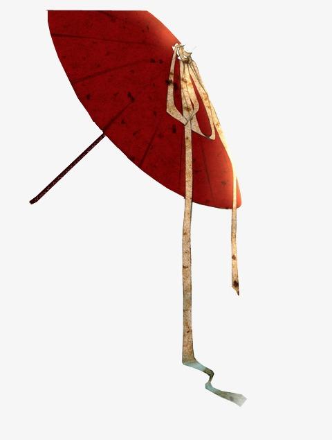 古风纸雨伞简笔画