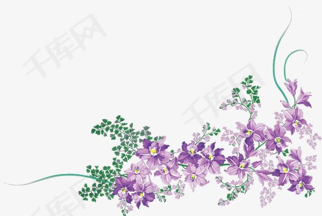 线描花草手绘装饰素材图片免费下载 高清png 千库网 图片编号303397图片