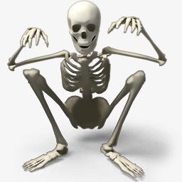 骷髅骨架图 骷髅骨架图画法