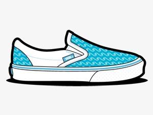 鞋单鞋万斯蓝色布鞋-货车波鞋van slip ons shoes icons素材图片免费