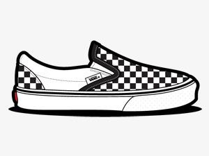 ardshoe鞋素描鞋子运动鞋耐克VANS滑板鞋手绘鞋子黑白运动鞋黑白