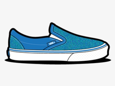 子运动鞋耐克VANS滑板鞋手绘鞋子黑白运动鞋黑白单鞋万斯蓝色布