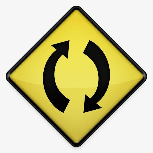 本次同步黄色道路标志图标作品为设计师鱼儿创作,格式为png,编号为 14图片