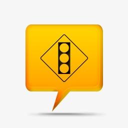 黄色的评论泡沫标志Z路标黄色的评论气泡图标素材图片免费下载 高清图片