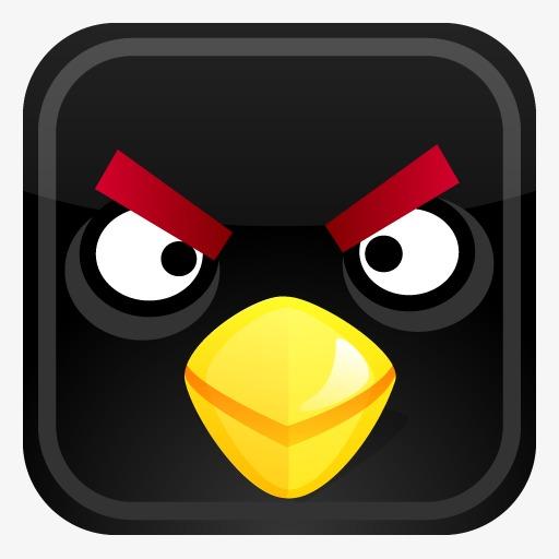 黑色鸟愤怒的小鸟图标
