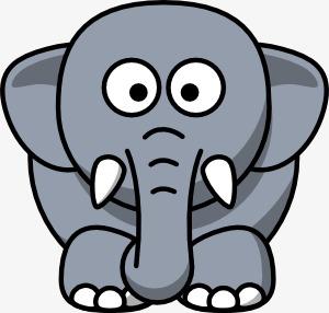 大象hathix卡通动物图片