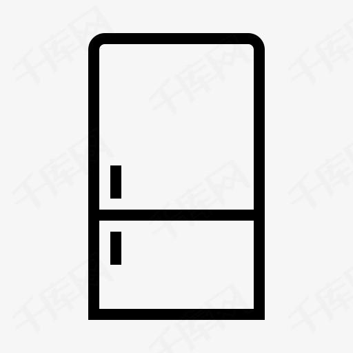 黑白简笔画冰箱矢量素材图片免费下载 高清图标素材png 千库网 图片编号908579